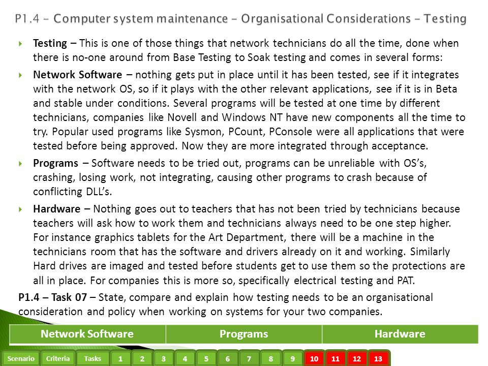 Network Software Programs Hardware
