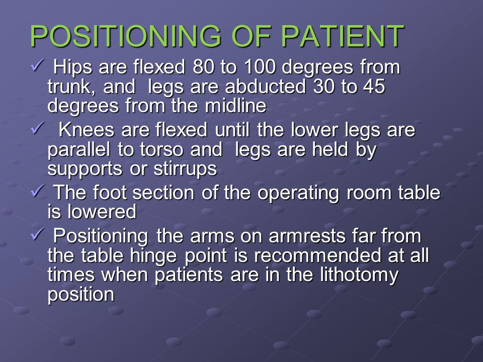 POSITIONING OF PATIENT