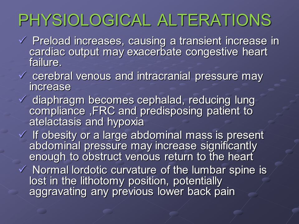 PHYSIOLOGICAL ALTERATIONS