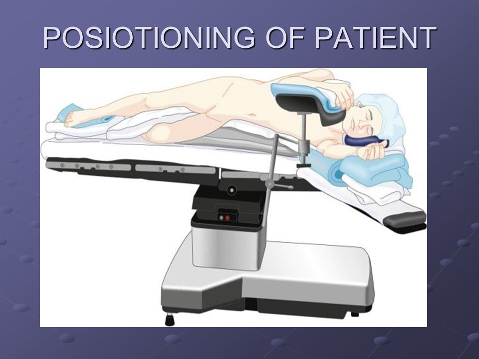 POSIOTIONING OF PATIENT