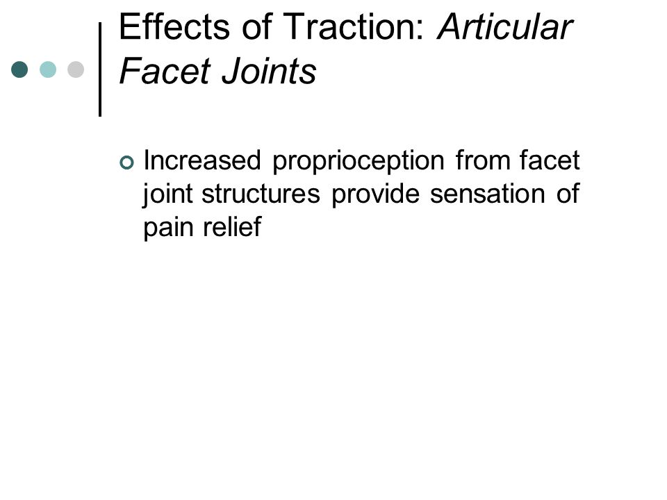 Effects of Traction: Articular Facet Joints