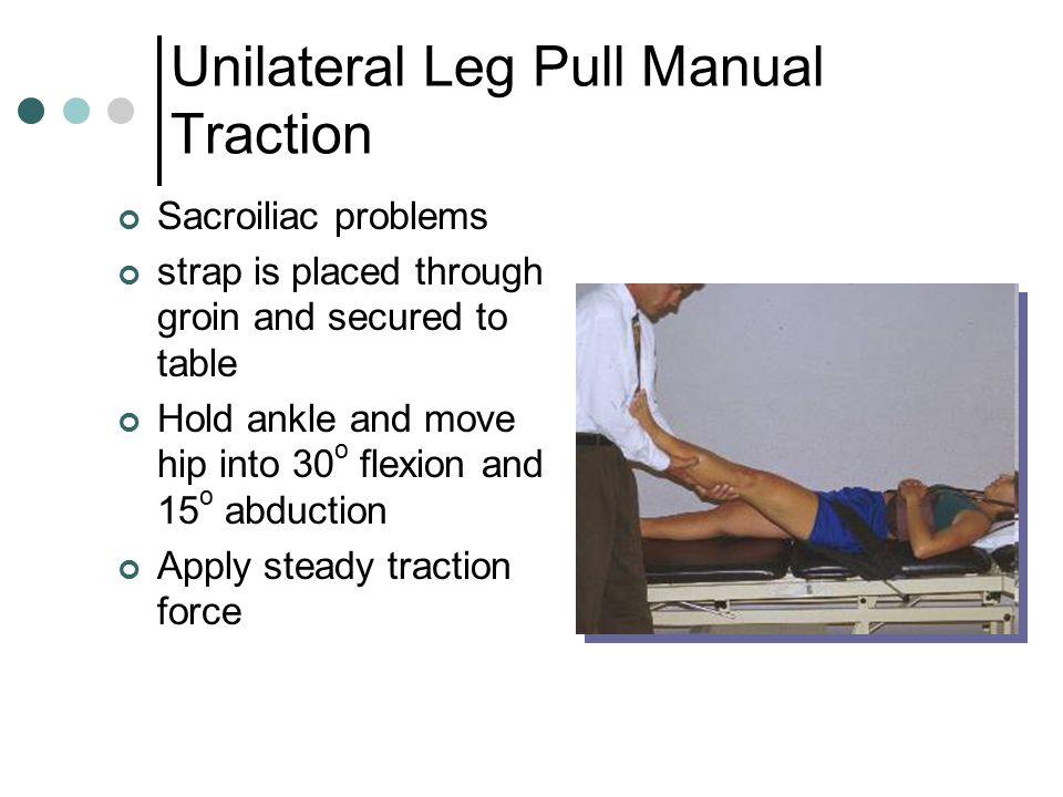 Unilateral Leg Pull Manual Traction