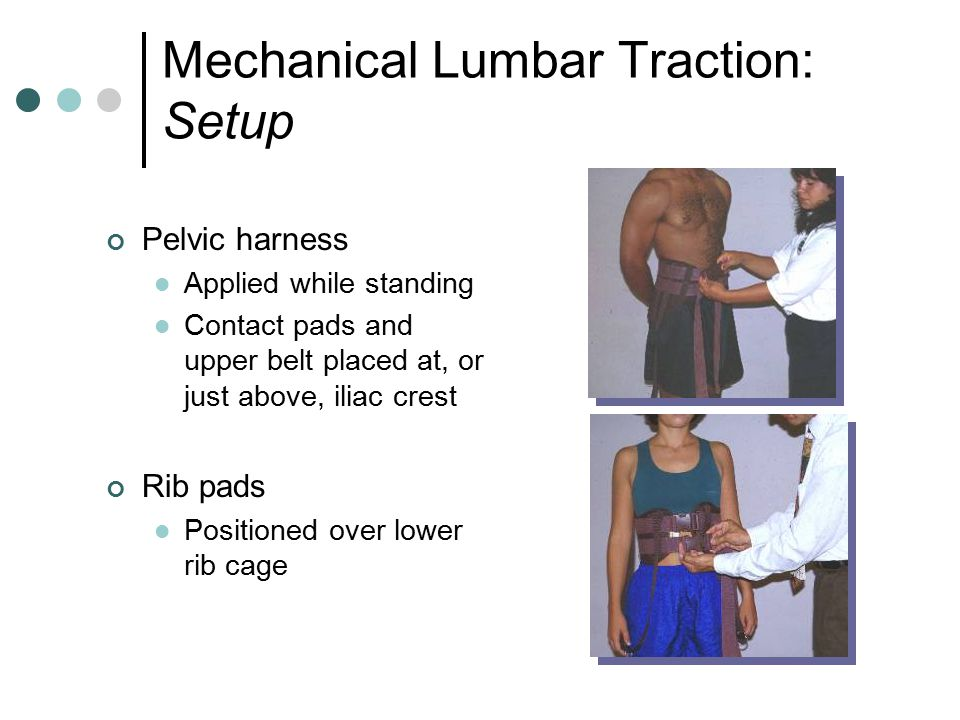 Mechanical Lumbar Traction: Setup