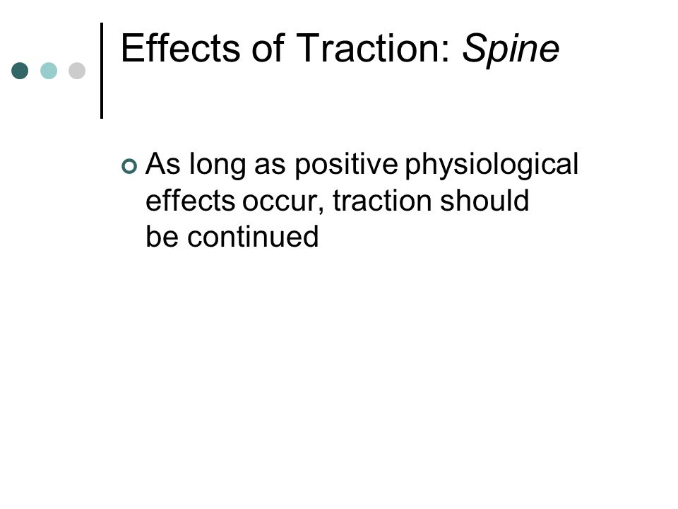 Effects of Traction: Spine