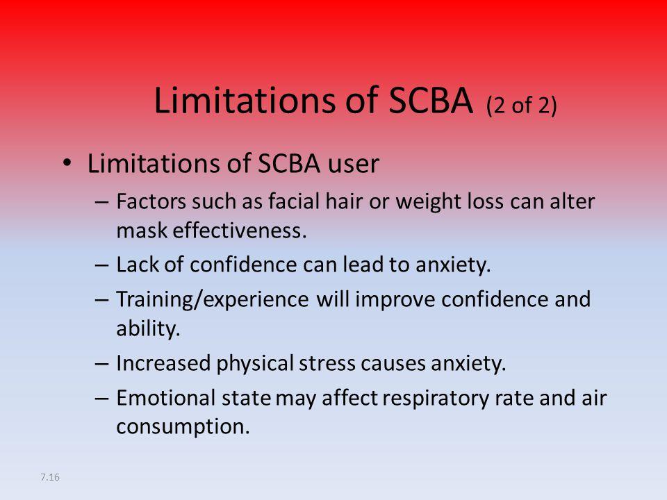 Limitations of SCBA (2 of 2)