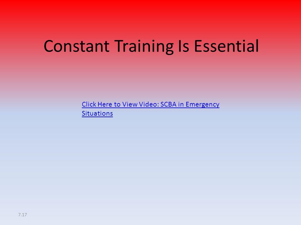 Constant Training Is Essential