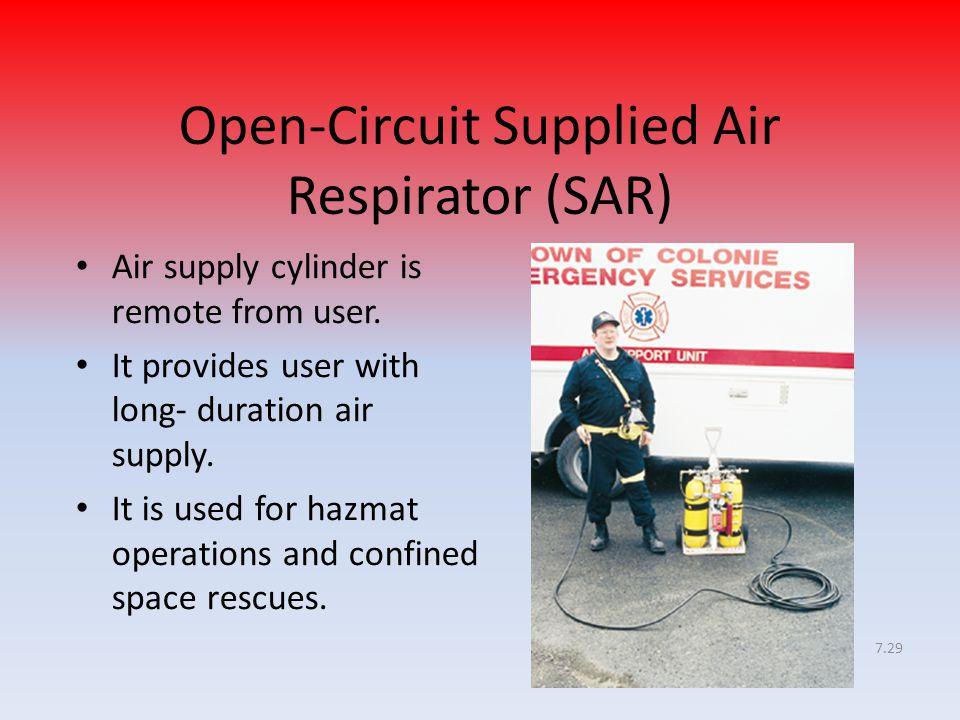 Open-Circuit Supplied Air Respirator (SAR)