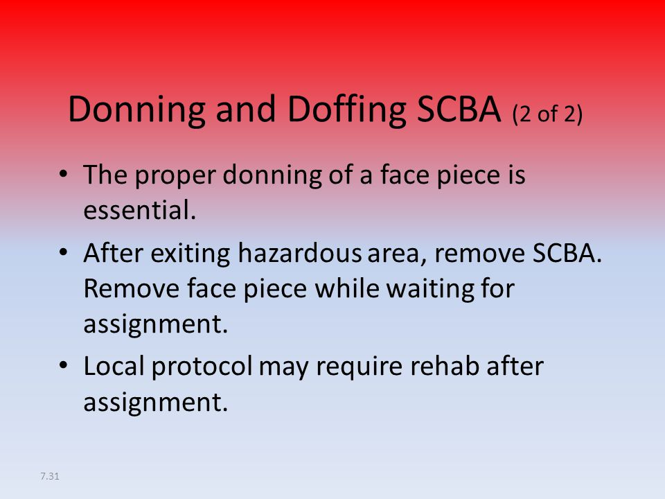 Donning and Doffing SCBA (2 of 2)