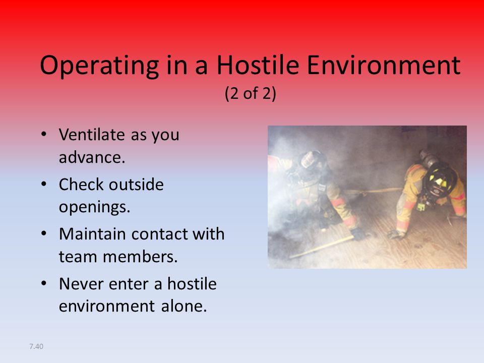 Operating in a Hostile Environment (2 of 2)