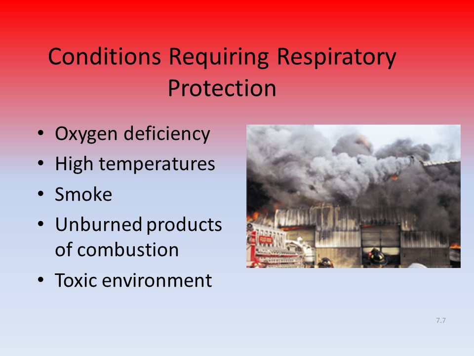 Conditions Requiring Respiratory Protection