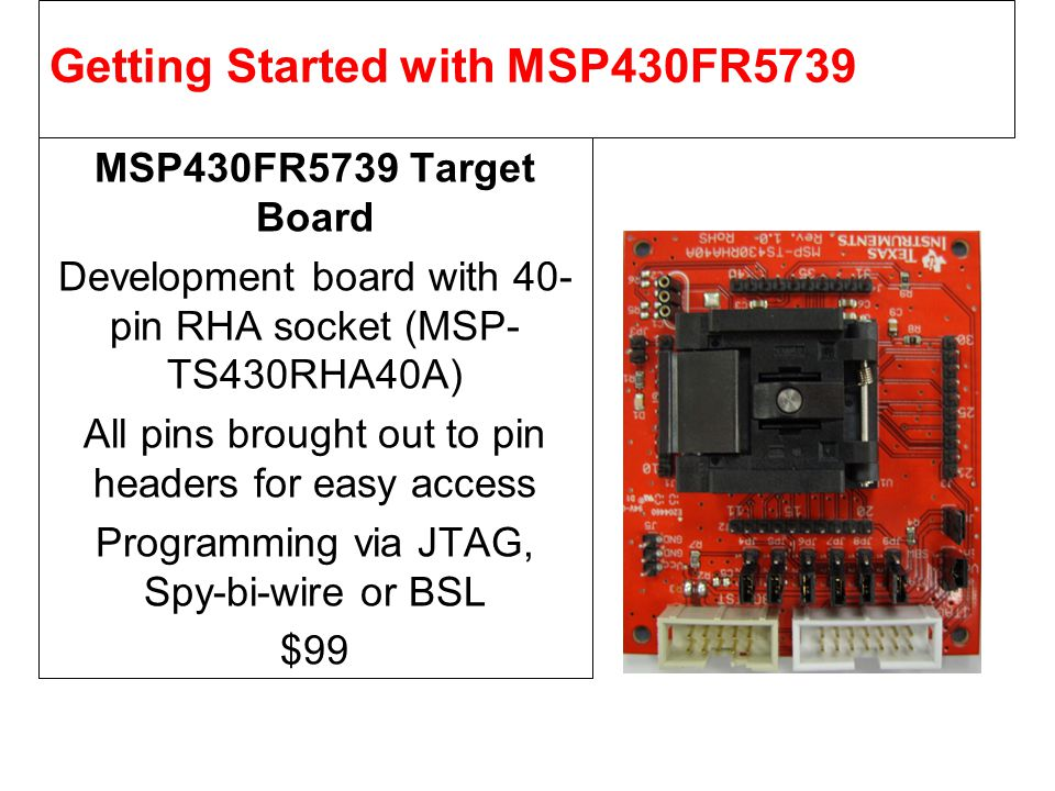 Getting Started with MSP430FR5739