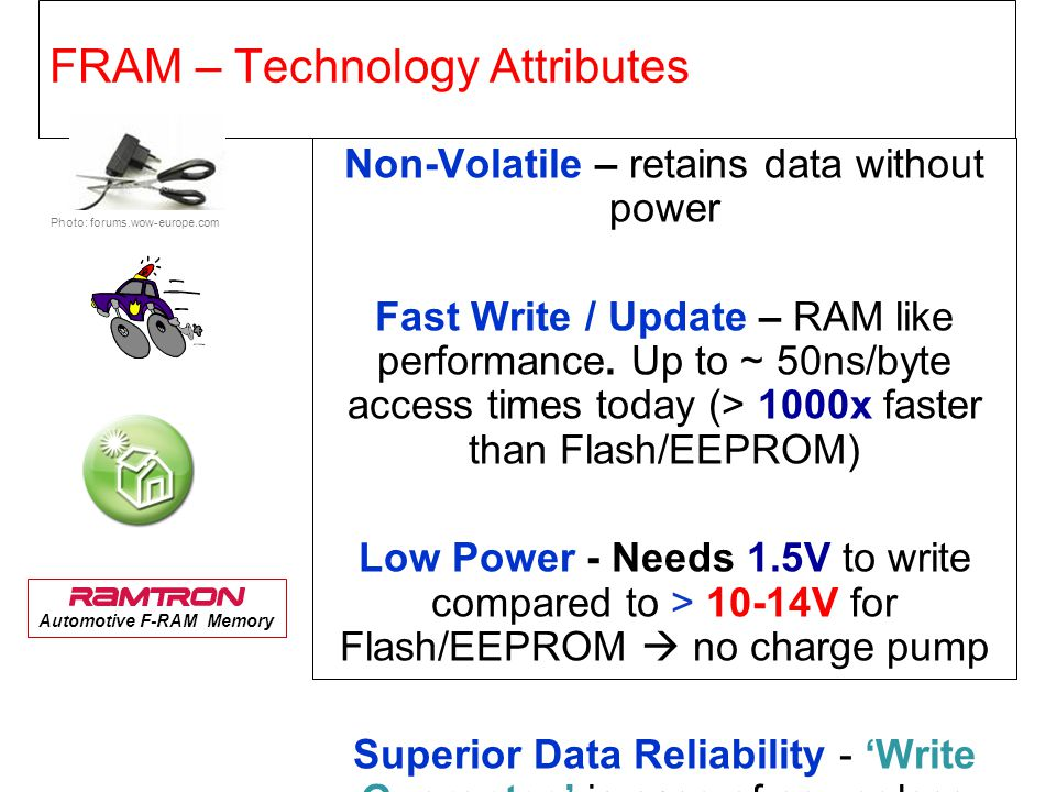 FRAM – Technology Attributes