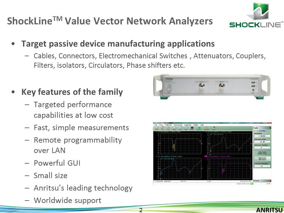 ShockLineTM Value Vector Network Analyzers