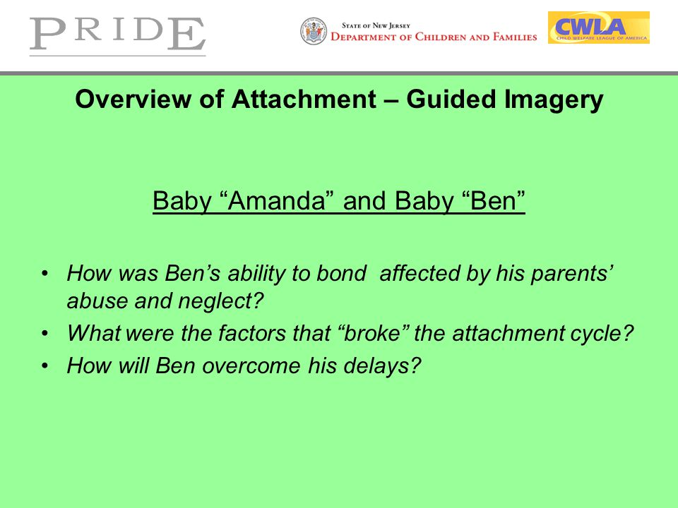 Overview of Attachment – Guided Imagery