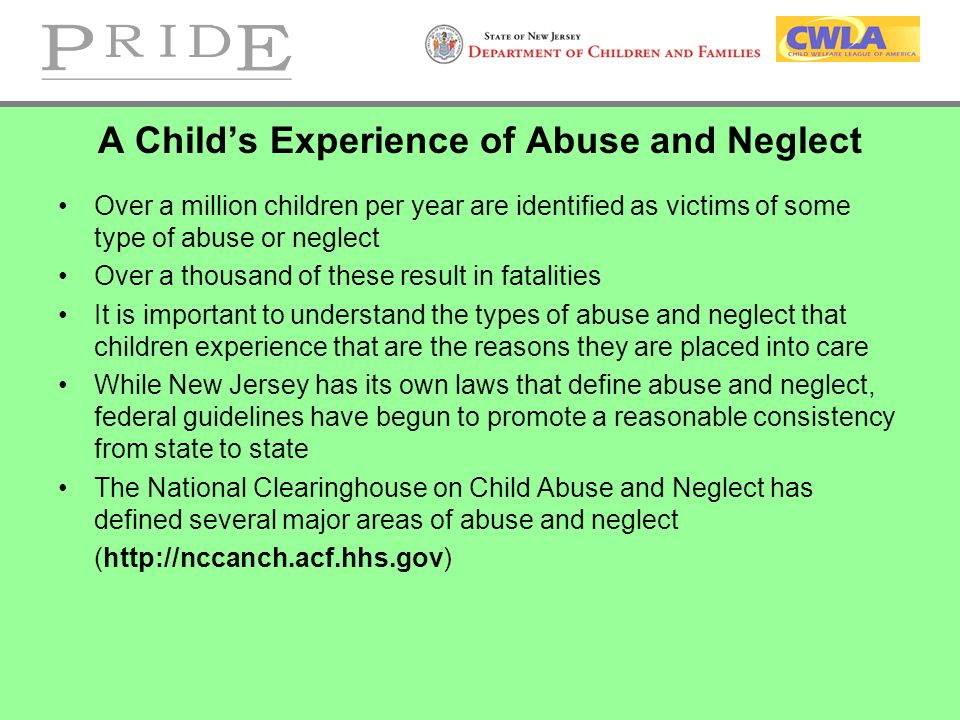 A Child's Experience of Abuse and Neglect