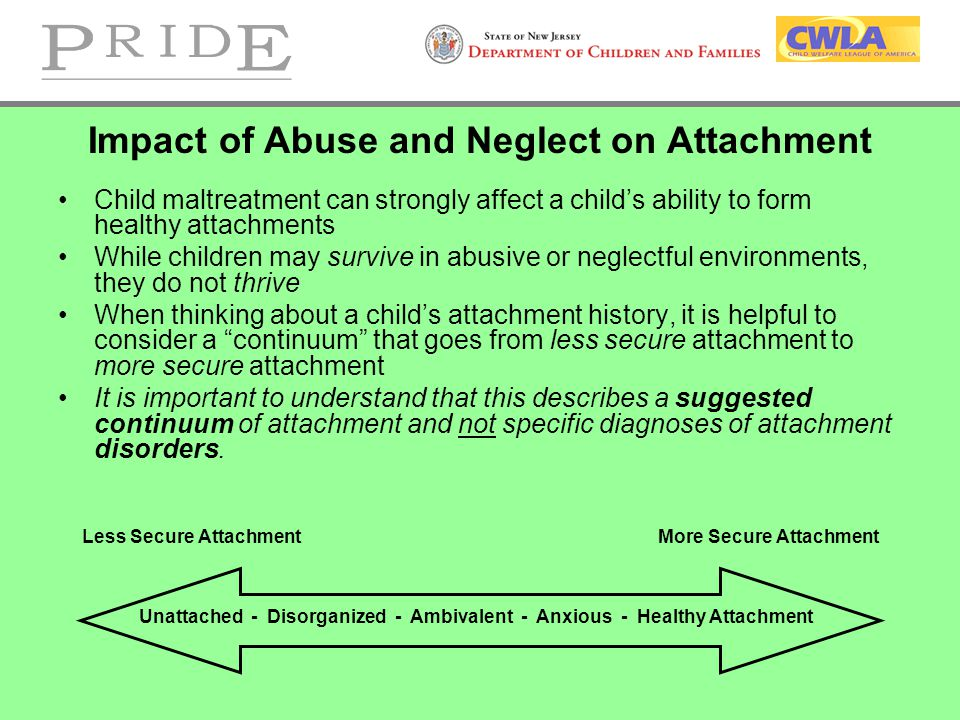 Impact of Abuse and Neglect on Attachment