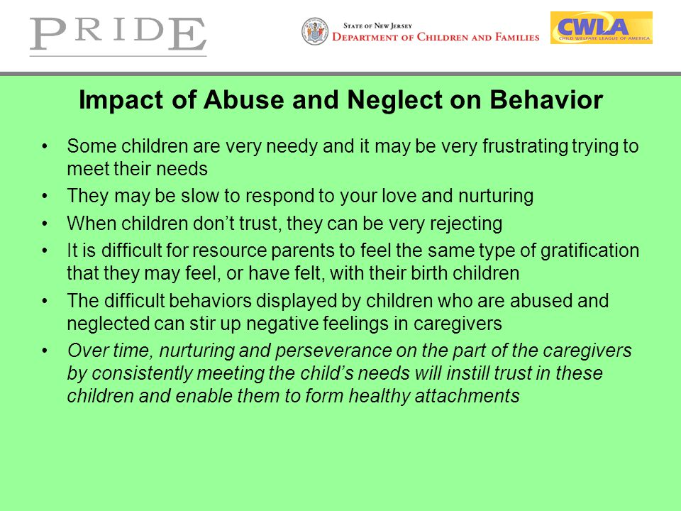 Impact of Abuse and Neglect on Behavior
