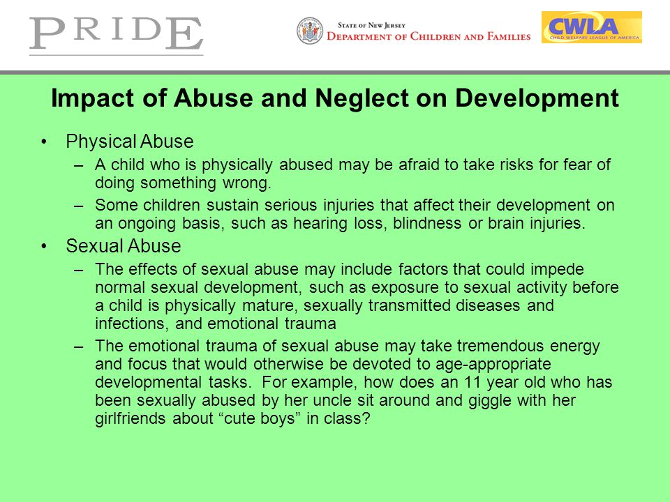 Impact of Abuse and Neglect on Development