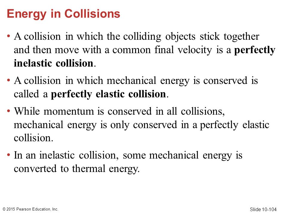 Energy in Collisions