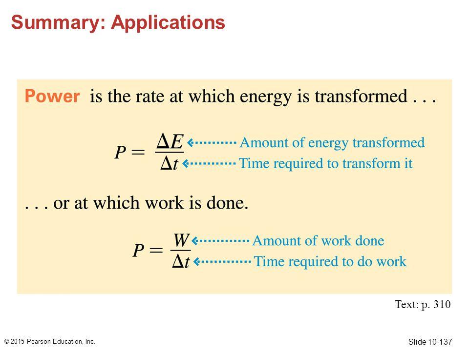 Summary: Applications