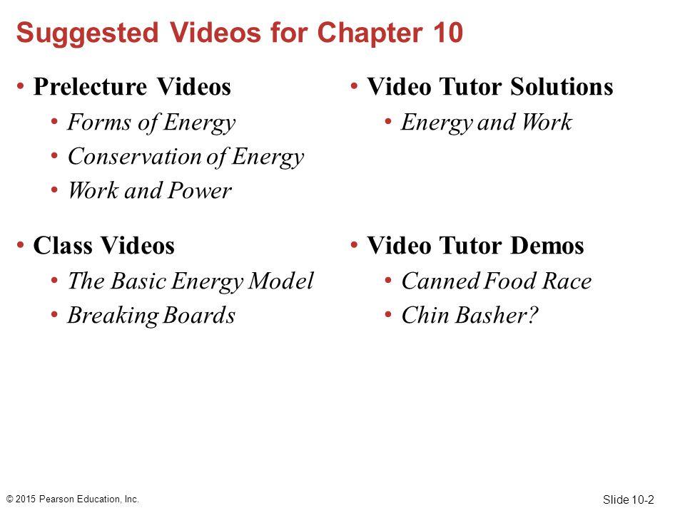 Suggested Videos for Chapter 10