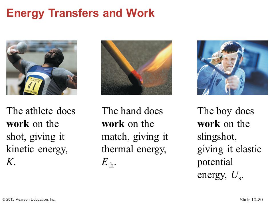 Energy Transfers and Work
