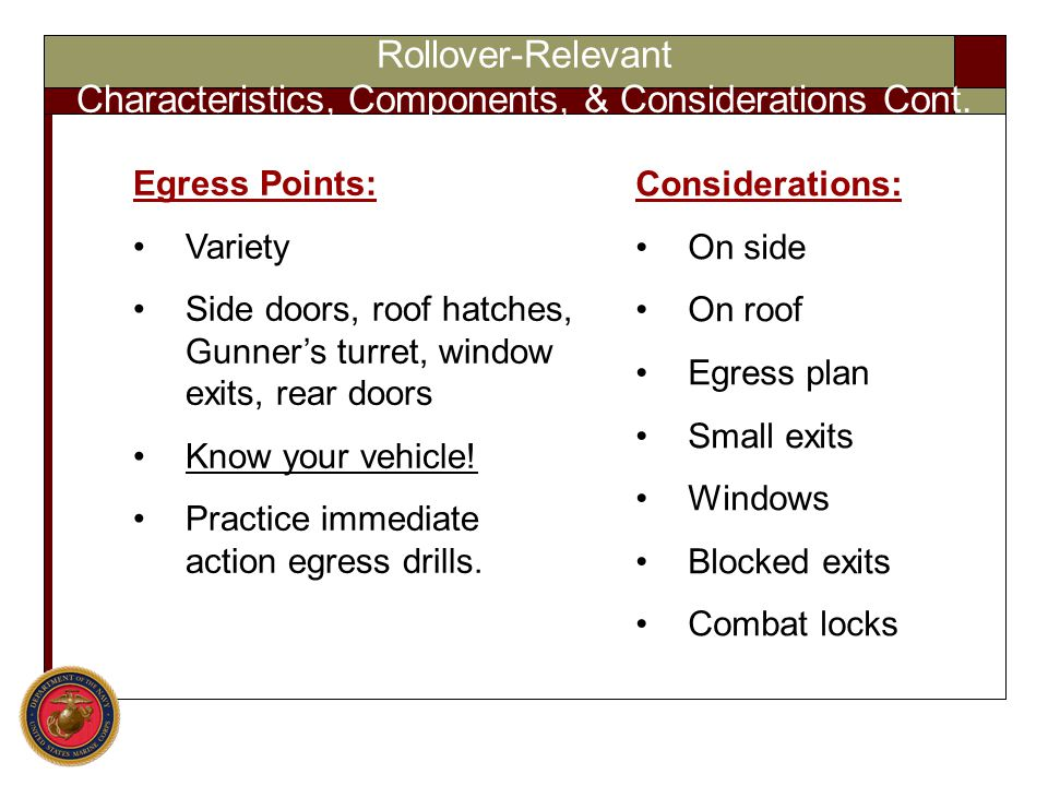 Characteristics, Components, & Considerations Cont.