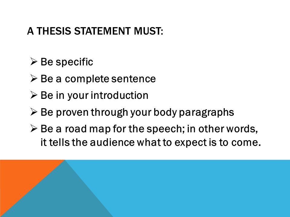 where should a thesis statement be located in an essay