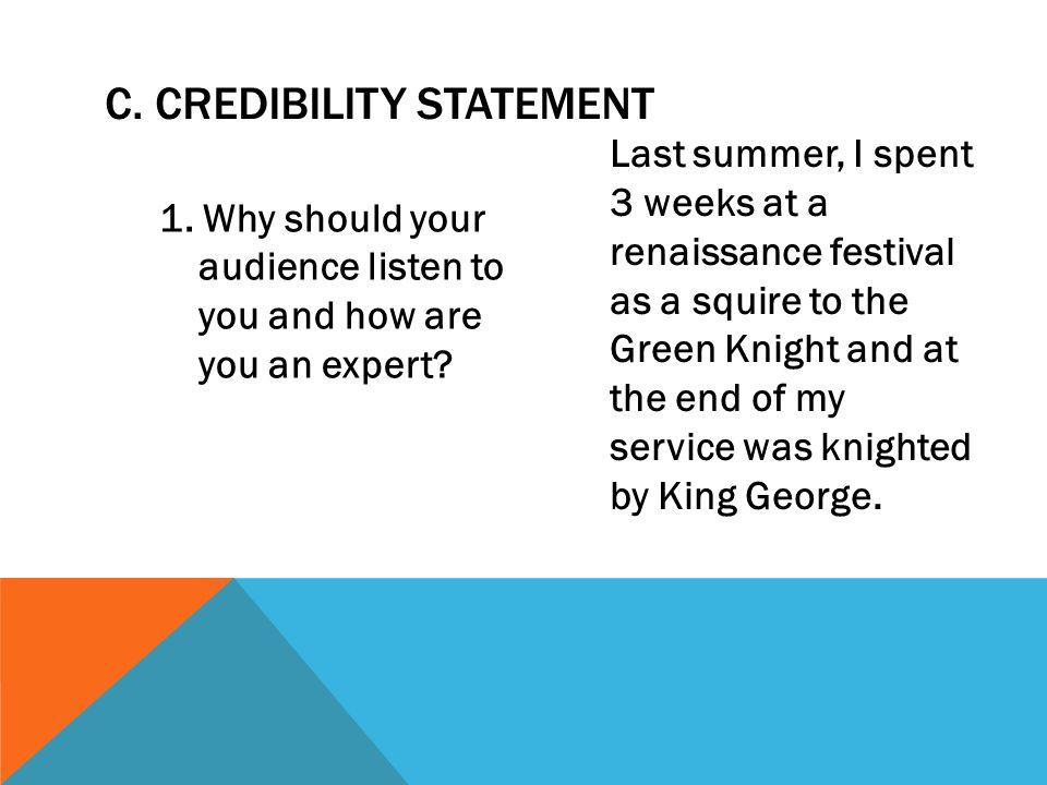 C. Credibility Statement
