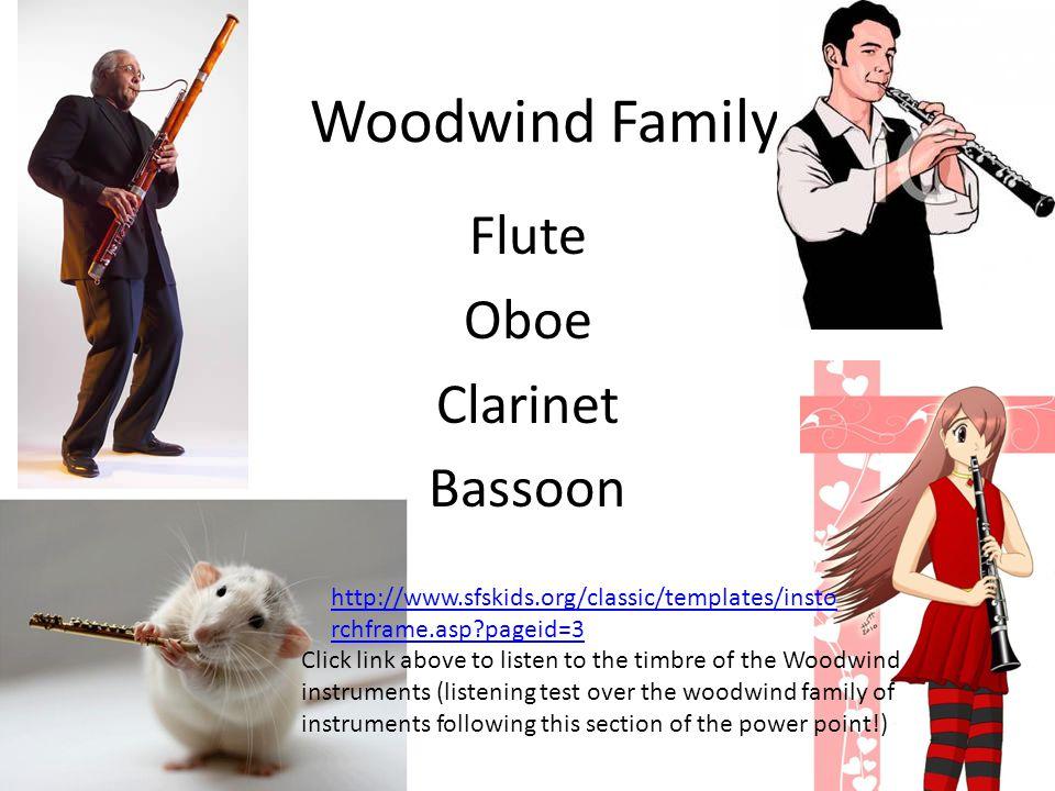 Flute Oboe Clarinet Bassoon