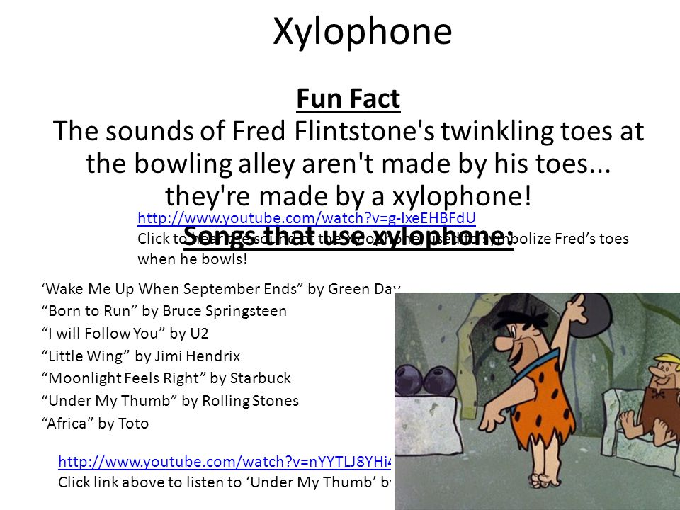 Songs that use xylophone: