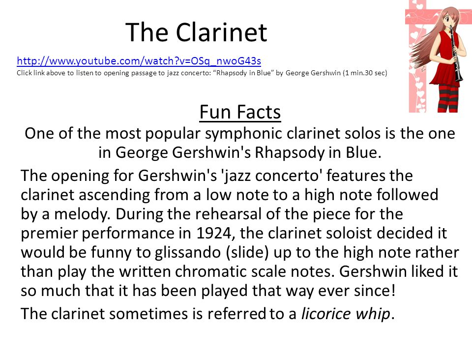 The Clarinet http://www.youtube.com/watch v=OSq_nwoG43s.