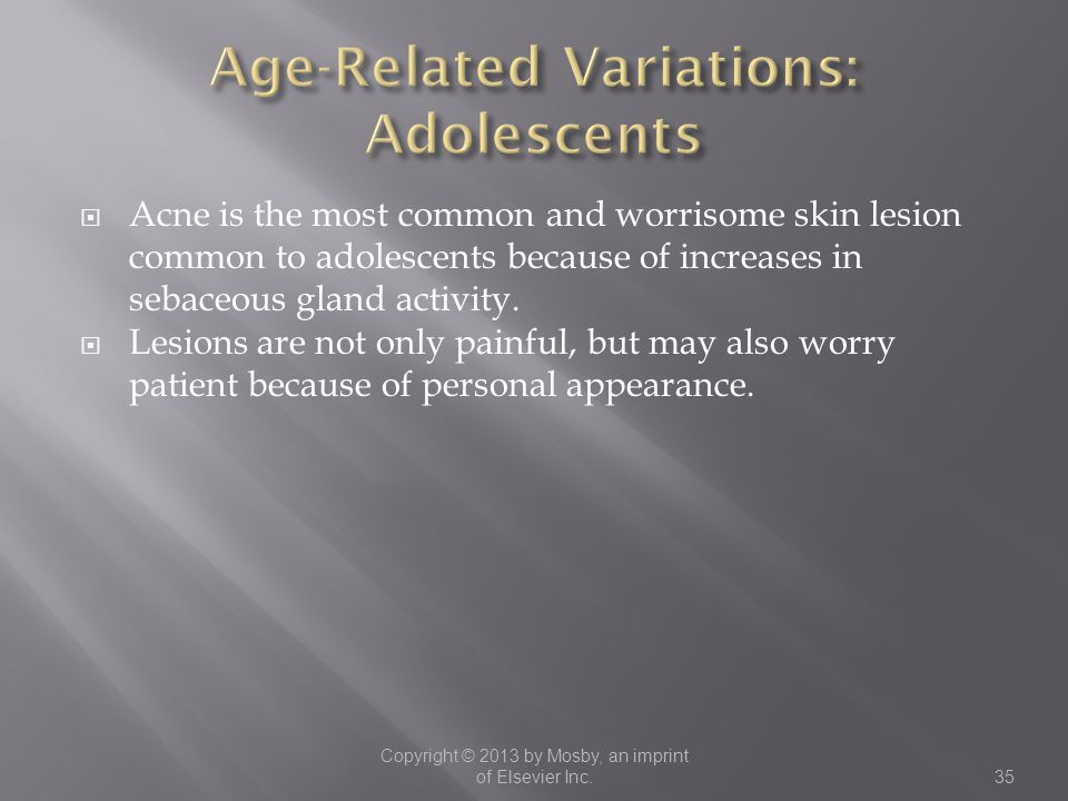 Age-Related Variations: Adolescents
