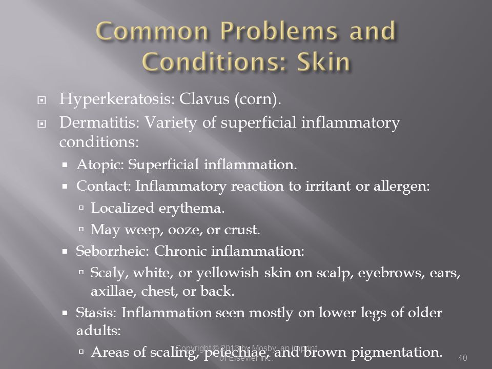 Common Problems and Conditions: Skin