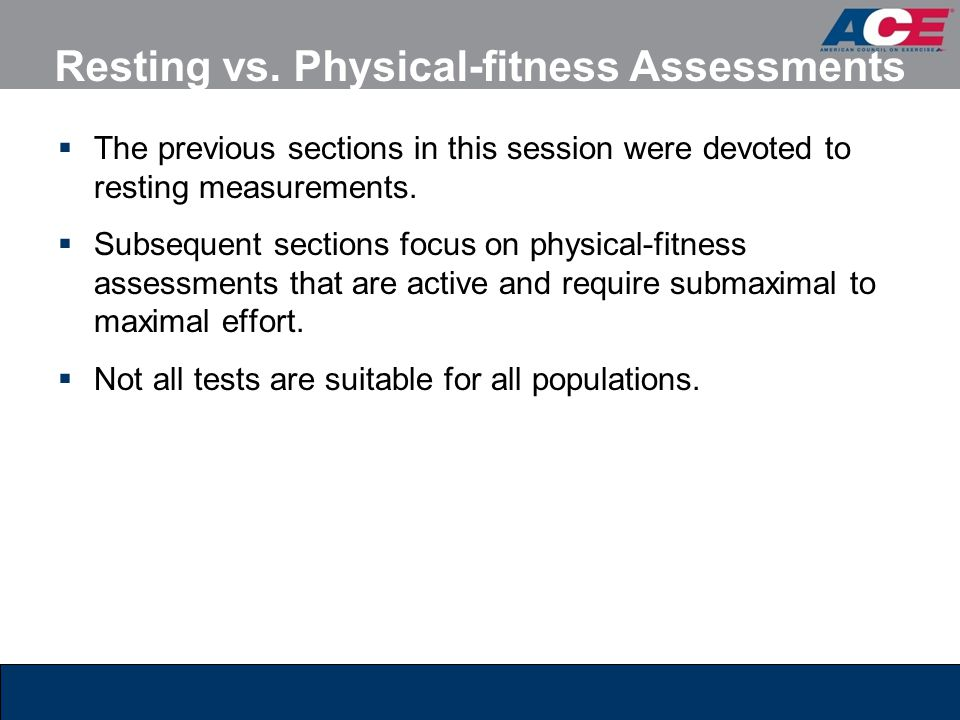 Resting vs. Physical-fitness Assessments