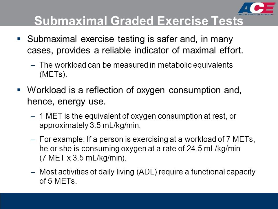 Submaximal Graded Exercise Tests