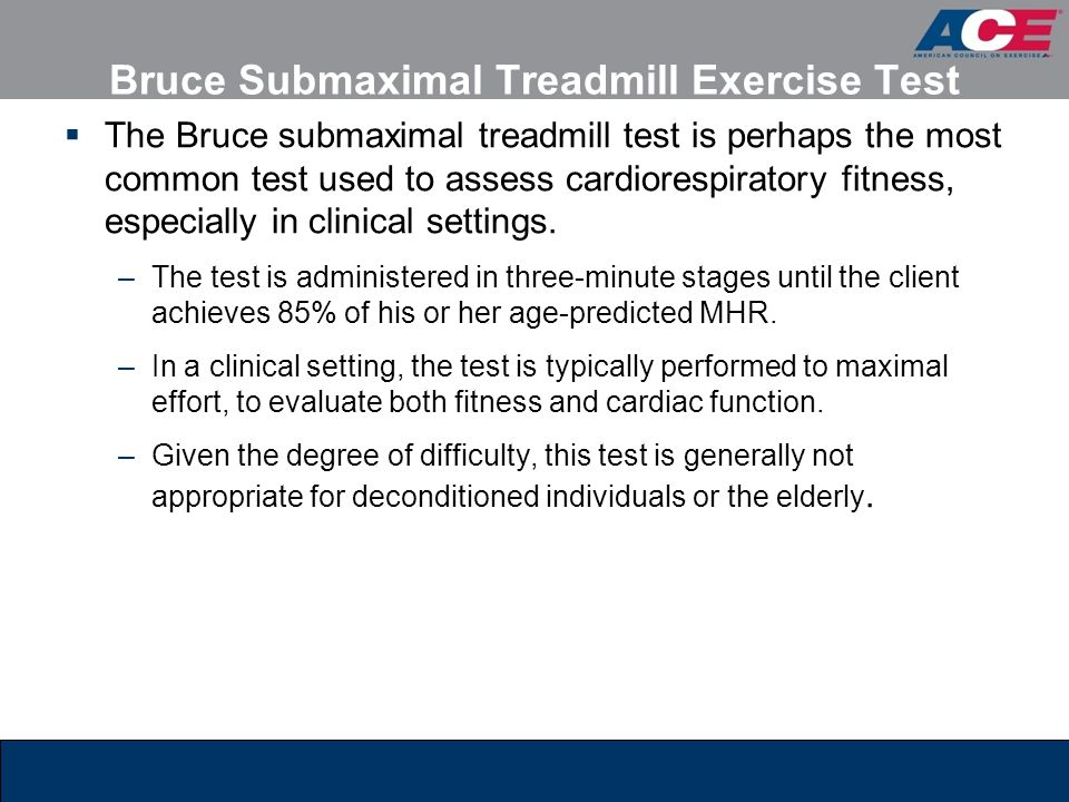 Bruce Submaximal Treadmill Exercise Test