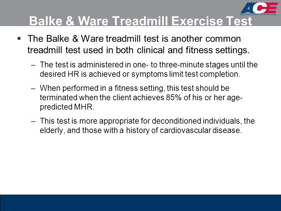Balke & Ware Treadmill Exercise Test