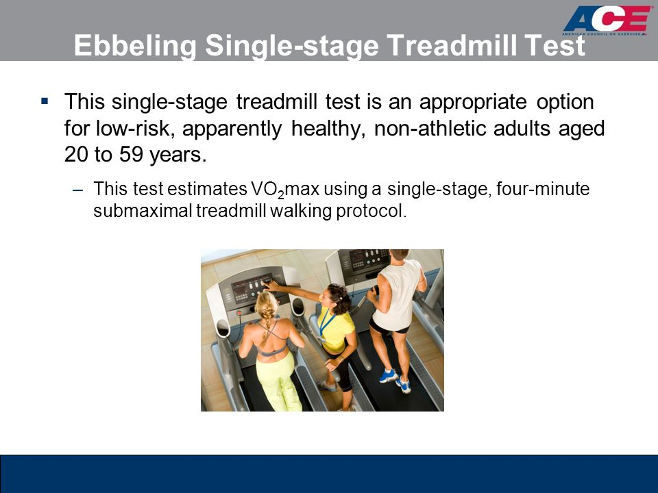 Ebbeling Single-stage Treadmill Test