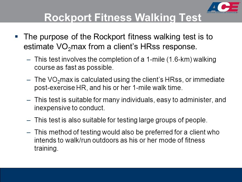 Rockport Fitness Walking Test