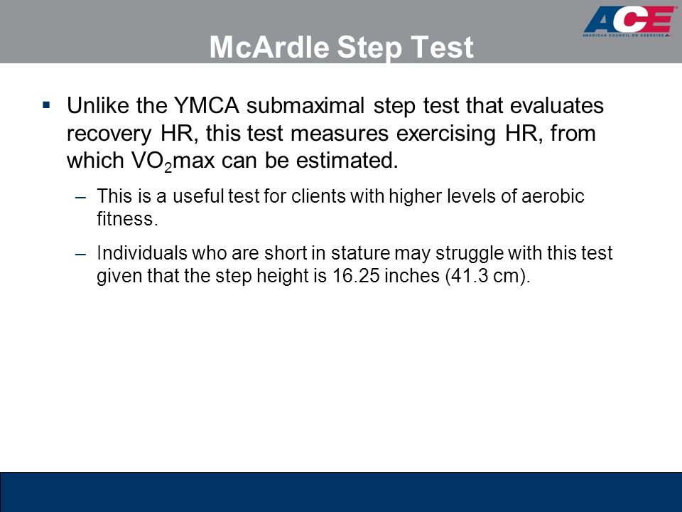 McArdle Step Test
