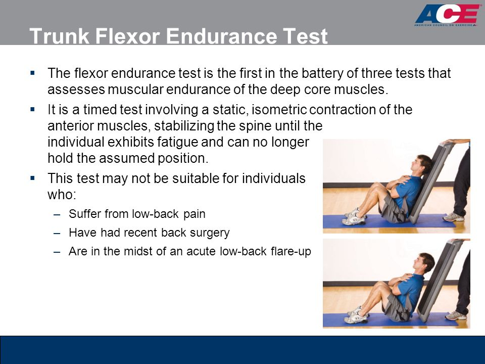 Trunk Flexor Endurance Test