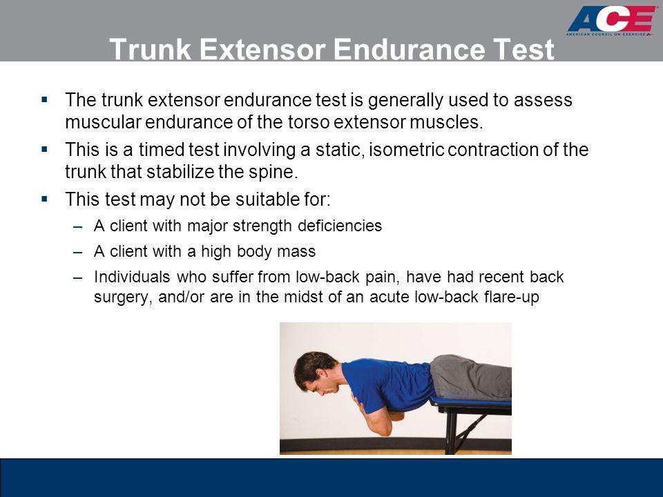 Trunk Extensor Endurance Test