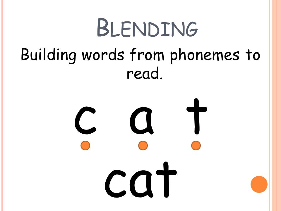 Building words from phonemes to read.