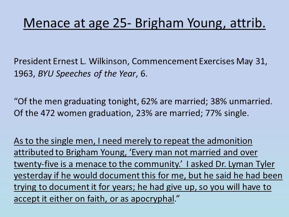 Menace at age 25- Brigham Young, attrib.