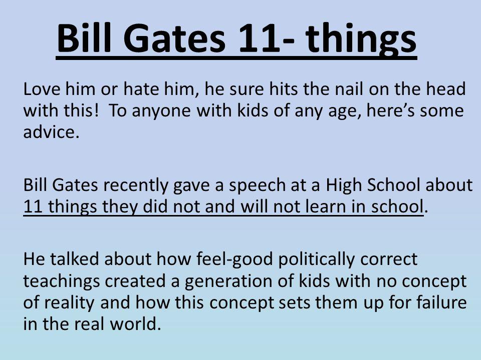 Bill Gates 11- things