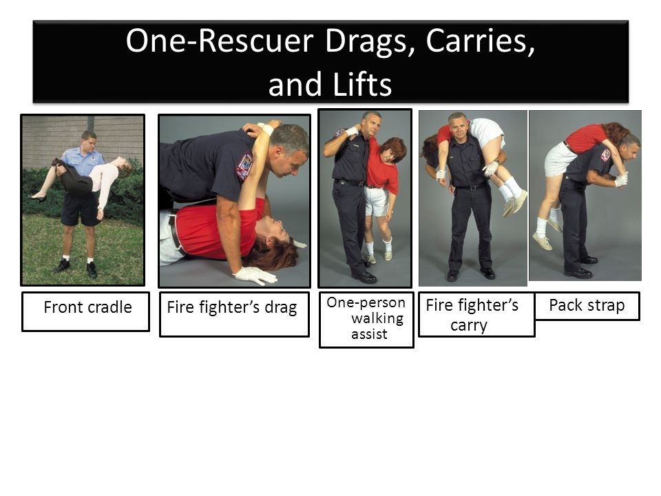 One-Rescuer Drags, Carries, and Lifts