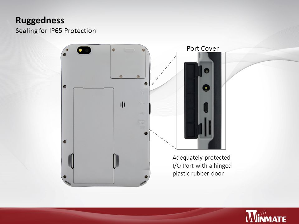 Ruggedness Sealing for IP65 Protection Port Cover