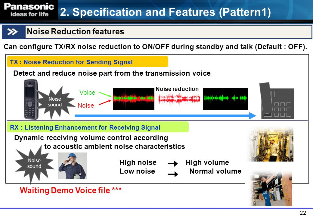 2. Specification and Features (Pattern1)