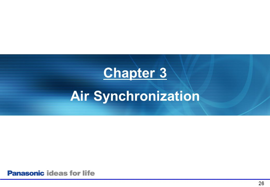 Chapter 3 Air Synchronization Chapter 1: Product Overview . 26
